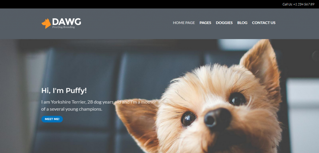 Dawg WP Dog Breeder theme