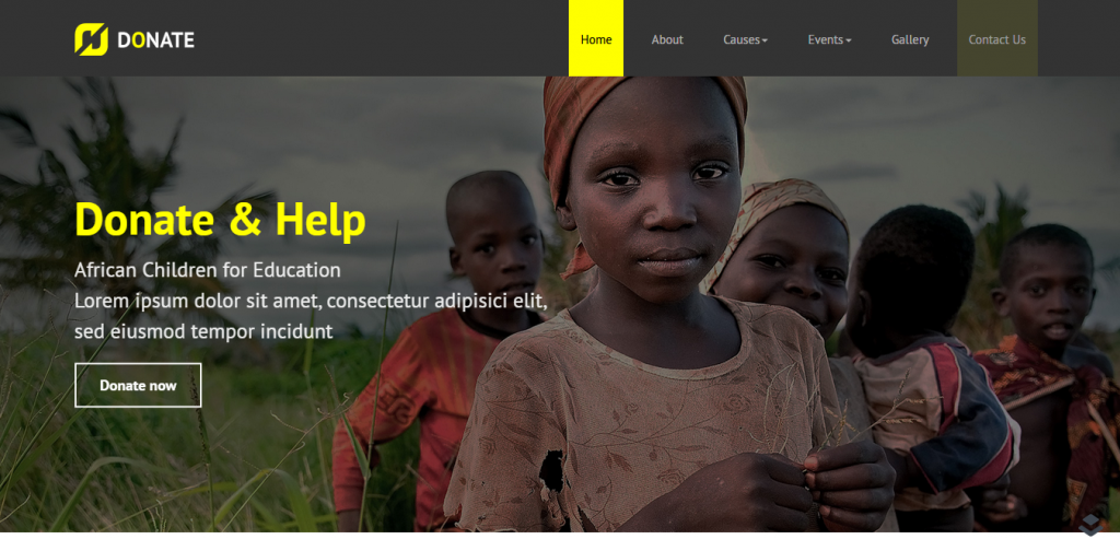Donate Nonprofit WordPress LayersWP Theme
