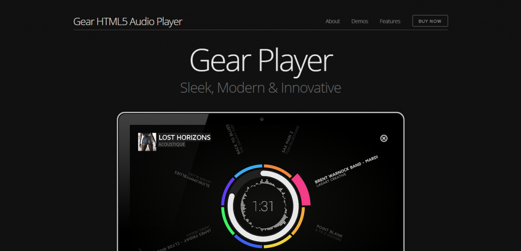 Gear HTML5 Audio Player