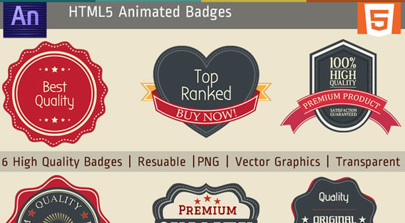 HTML5 Edge Animate Badges