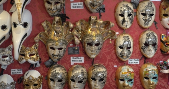 Handmade Masks For Venetian Carnival