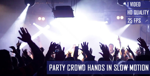 Hands Of Party Crowd