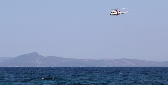 Helicopter and Sea
