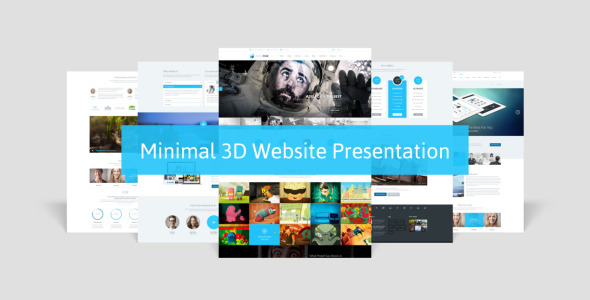 Minimal 3D Website Presentation