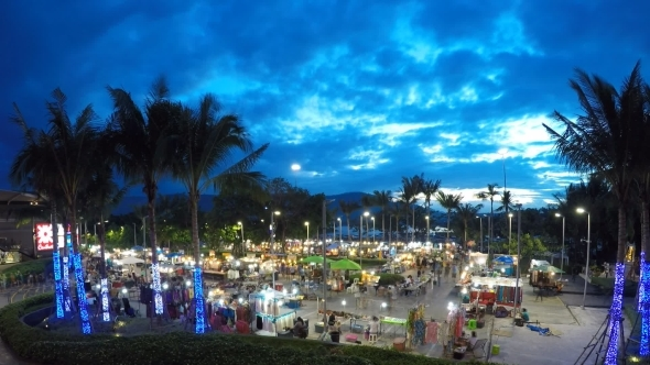Night Market With Tourists