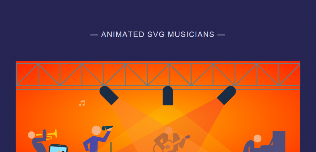 Responsive Musicians Animation