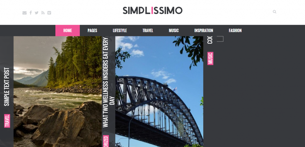Simplissimo A Professional Blog WordPress Theme