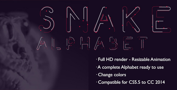 Snake Alphabet A wrapped Animated Font