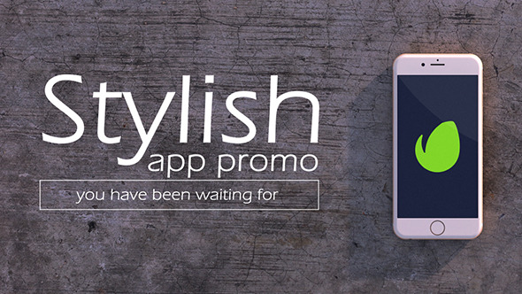 Stylish Mobile App Promo