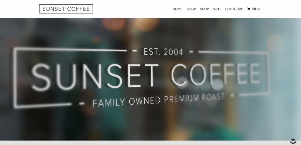 Sunset Coffee Layers WooCommerce Theme