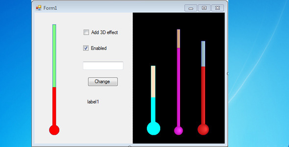 Thermometer Bar for Windows Forms