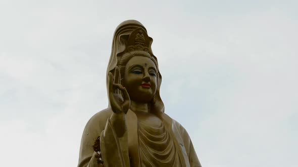 Time Lapse Of Buddha With Clouds Passing