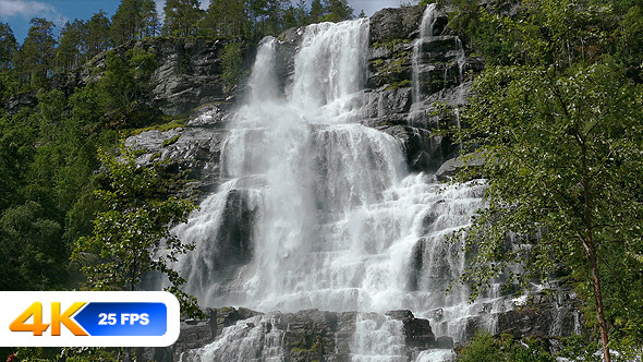 Waterfall Tvindefossen Norway