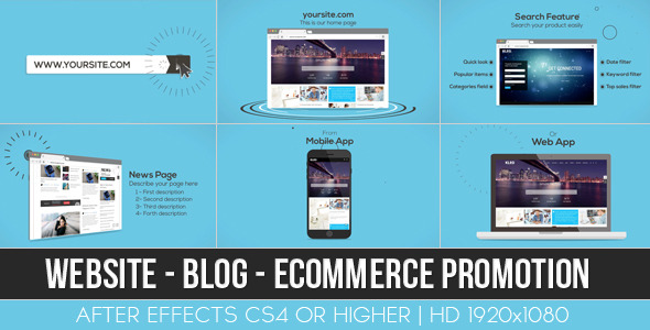 Website Blog E-commerce Promotion