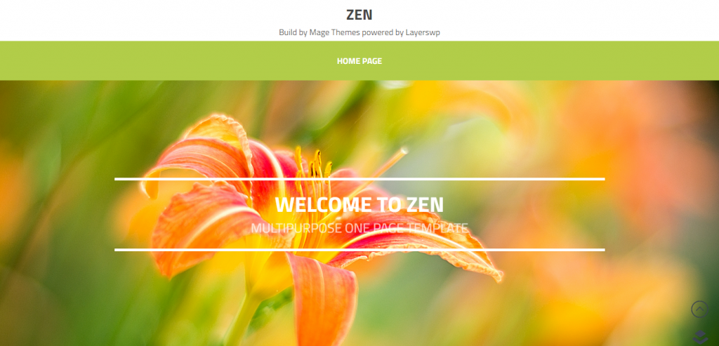 Zen Multi-Purpose OnePage LayersWP Child Theme
