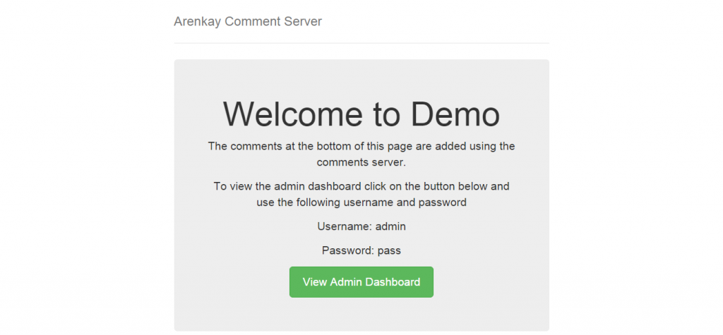 Arenkay Comment Server