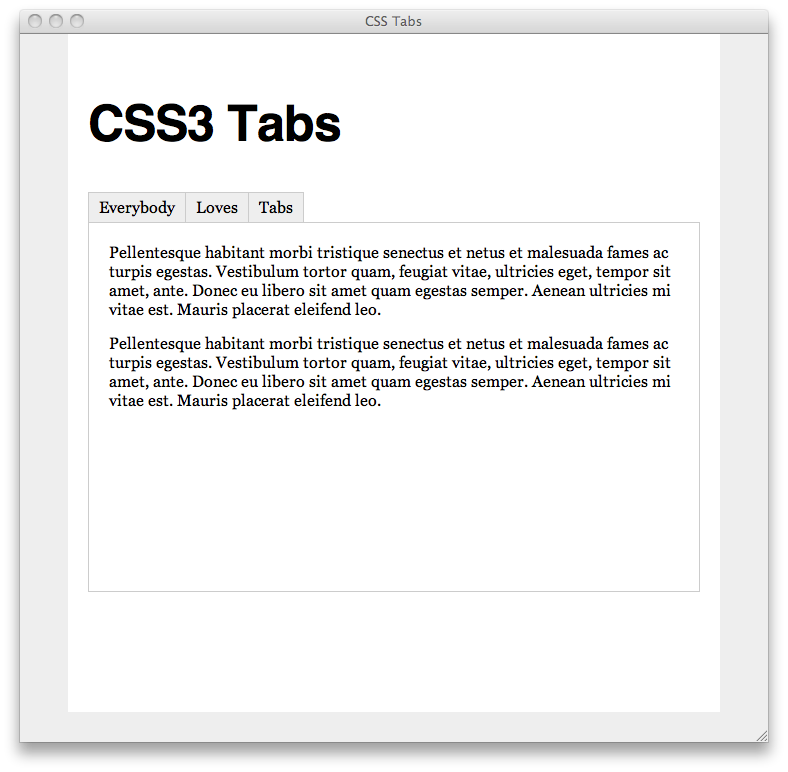 CSS3 Tabs