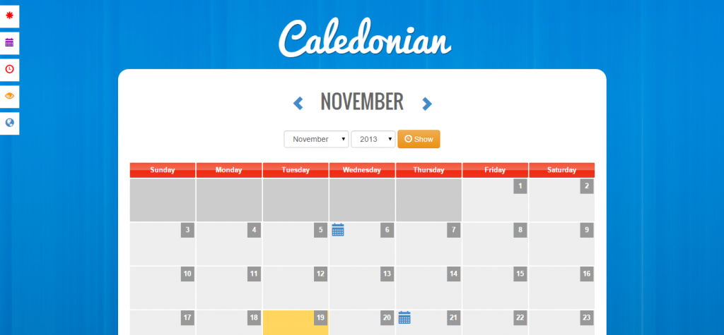 Caledonian PHP Event Calendar