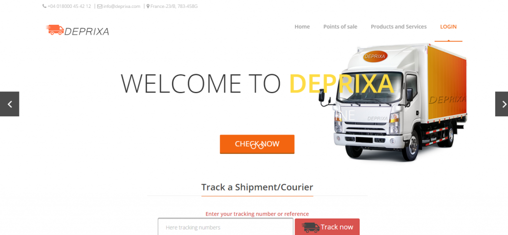 Courier Deprixa Integrated Web system