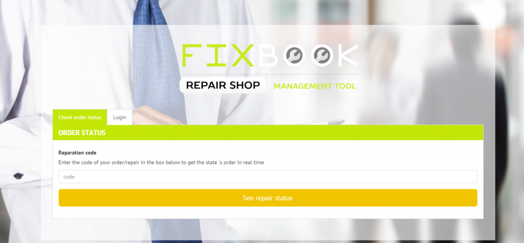 FixBook Repair Shop Management Tool