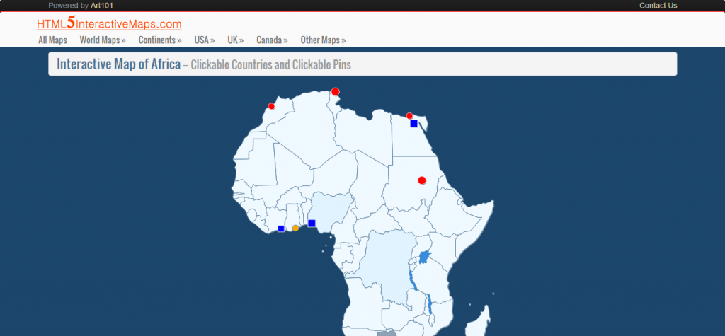 Interactive Map of Africa