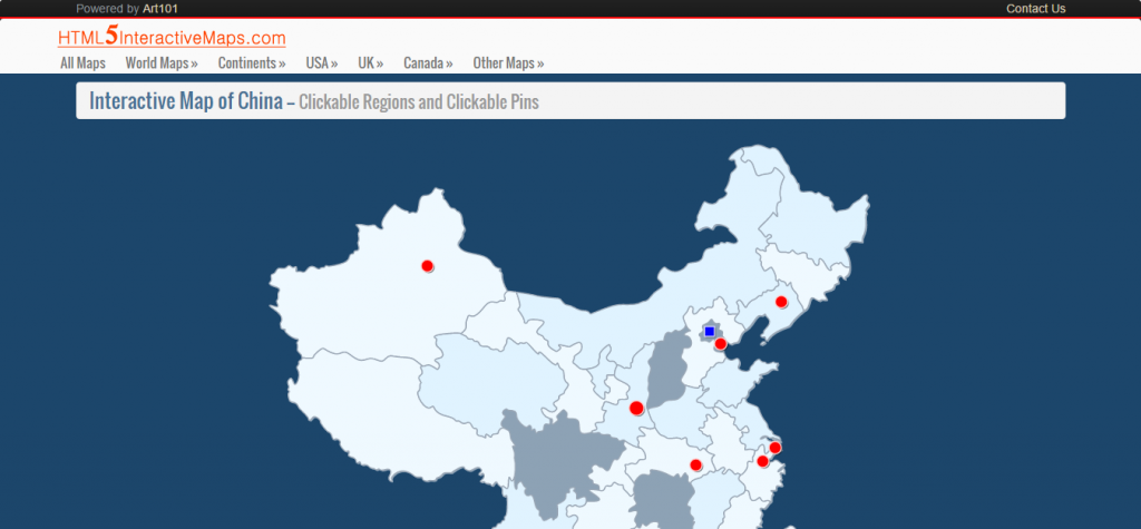 Interactive Map of China