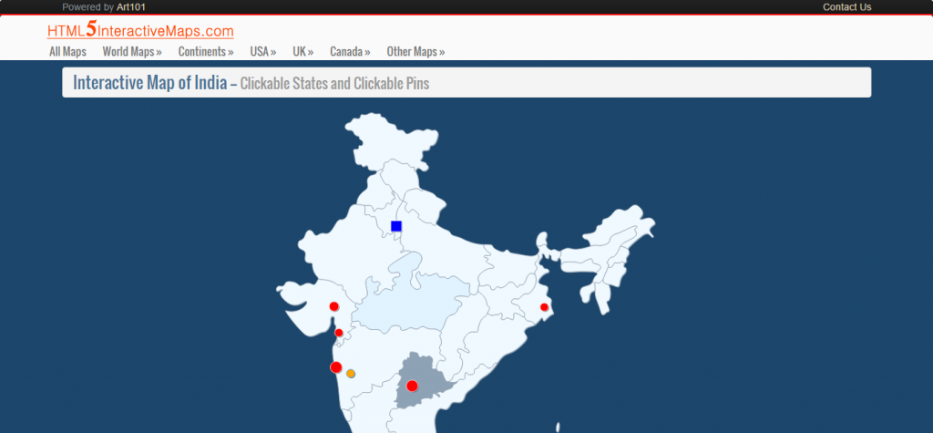 Interactive Map of India
