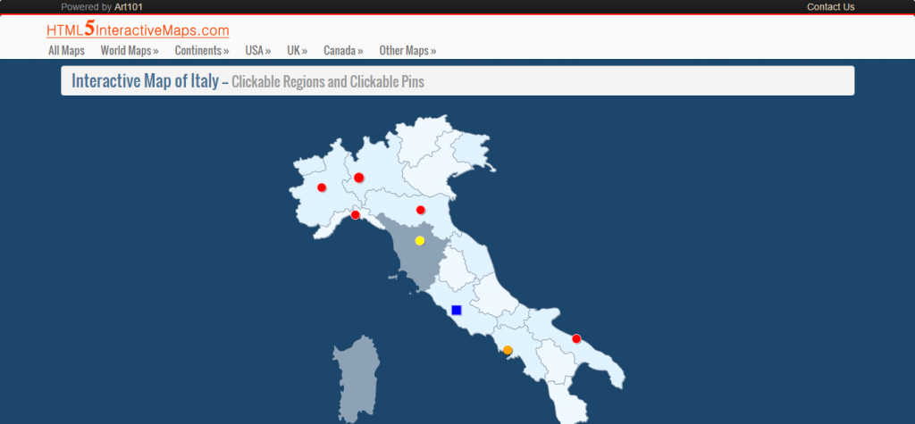 Interactive Map of Italy