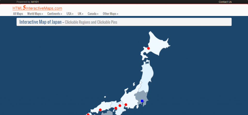Interactive Map of Japan