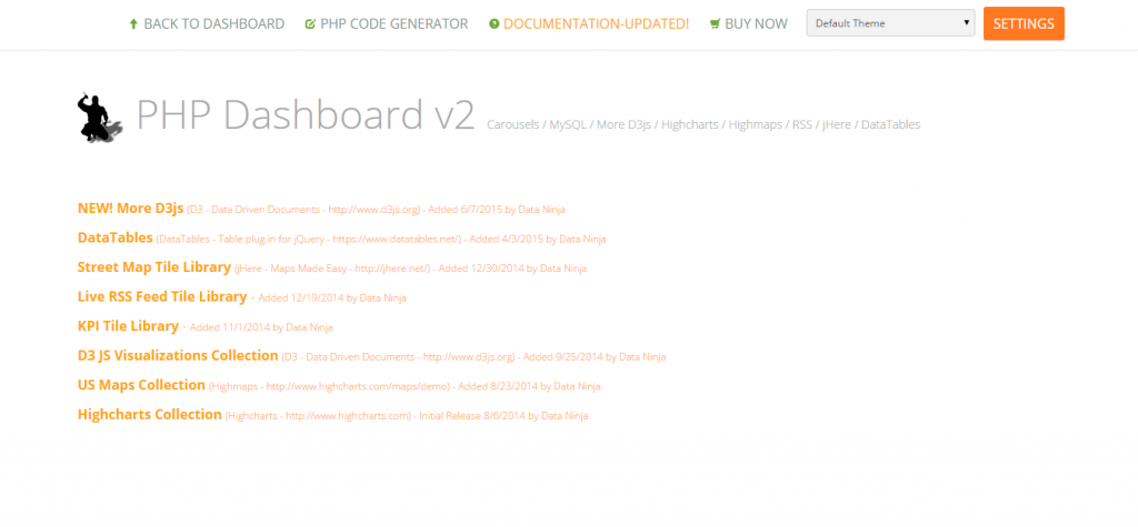 PHP Dashboard NEW v2.9
