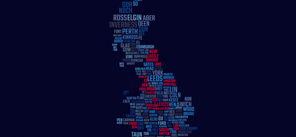 SVG Word-Made Map Great Britain