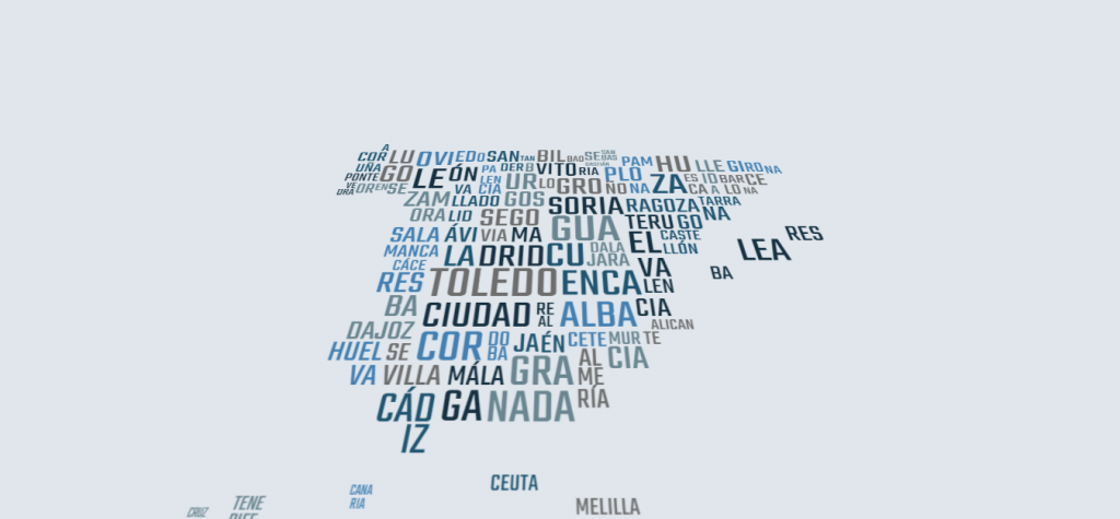 SVG Word-Made Map Spain