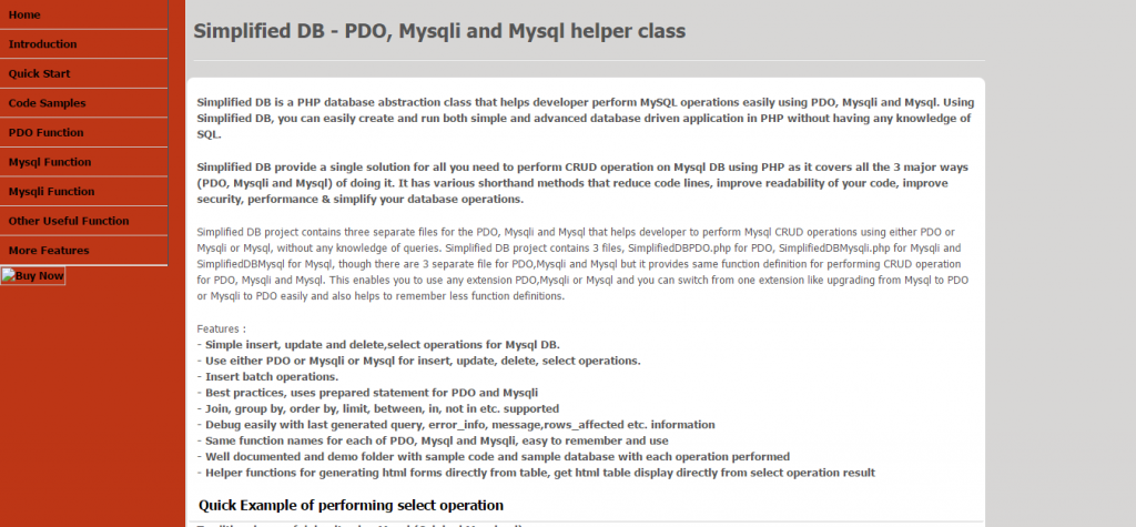 Simplified DB PDO, Mysqli, Mysql Helper Class