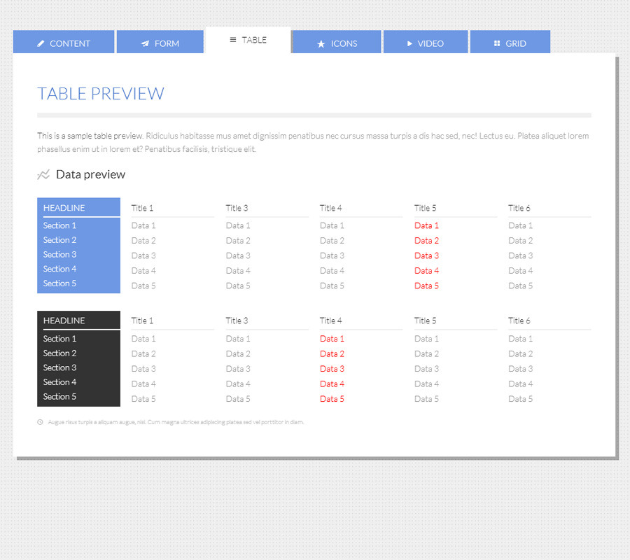 45 the best css sliders to download weelii for Table design html5 css3