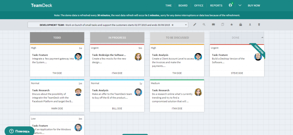 TeamDeck Freelance Office with Kanban