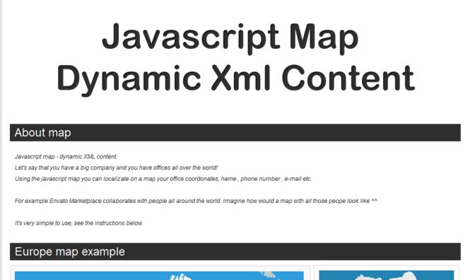Javascript map