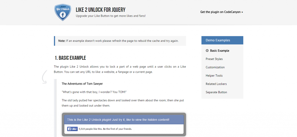 Like 2 Unlock for jQuery