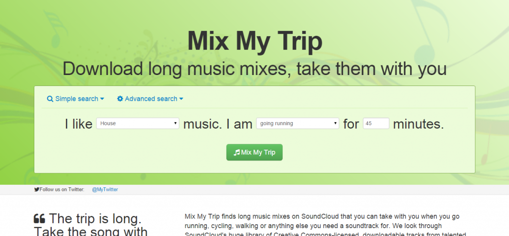 MixMyTrip Download long music mixes