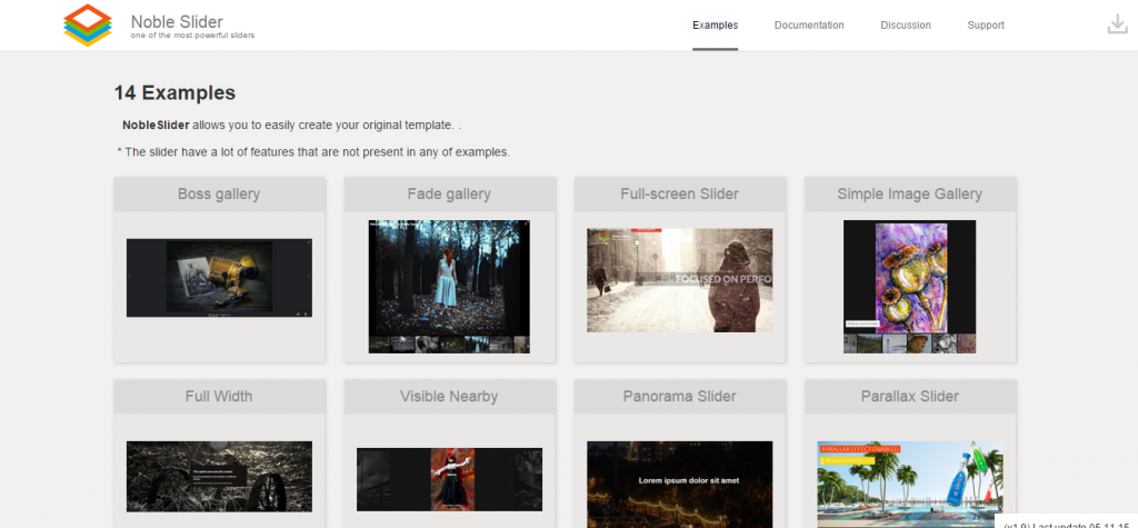 Noble Slider Professional jQuery Image Gallery