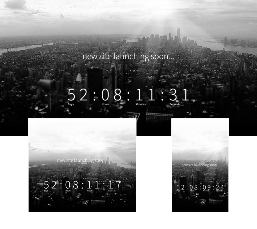 Soon Countdown Pack, Responsive jQuery Plugin